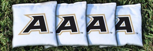 ARMY BLACK KNIGHTS WHITE CORNHOLE BAGS