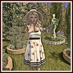 coldLogic - beam skirt & shirt  -  Perfect Ten garden decor - The Secret Store hat & hair NEW