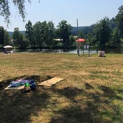 Dans l'ombre #Baerenthal #baignade #Vosges #etang