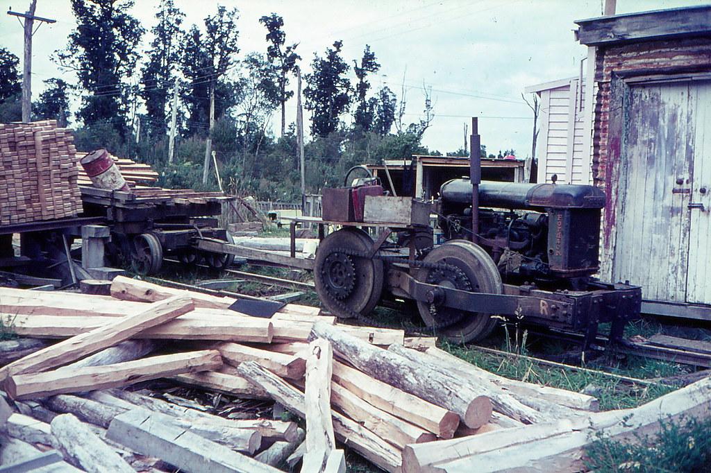 Fordson tractor Akarito Forks 4 mile tram 1966