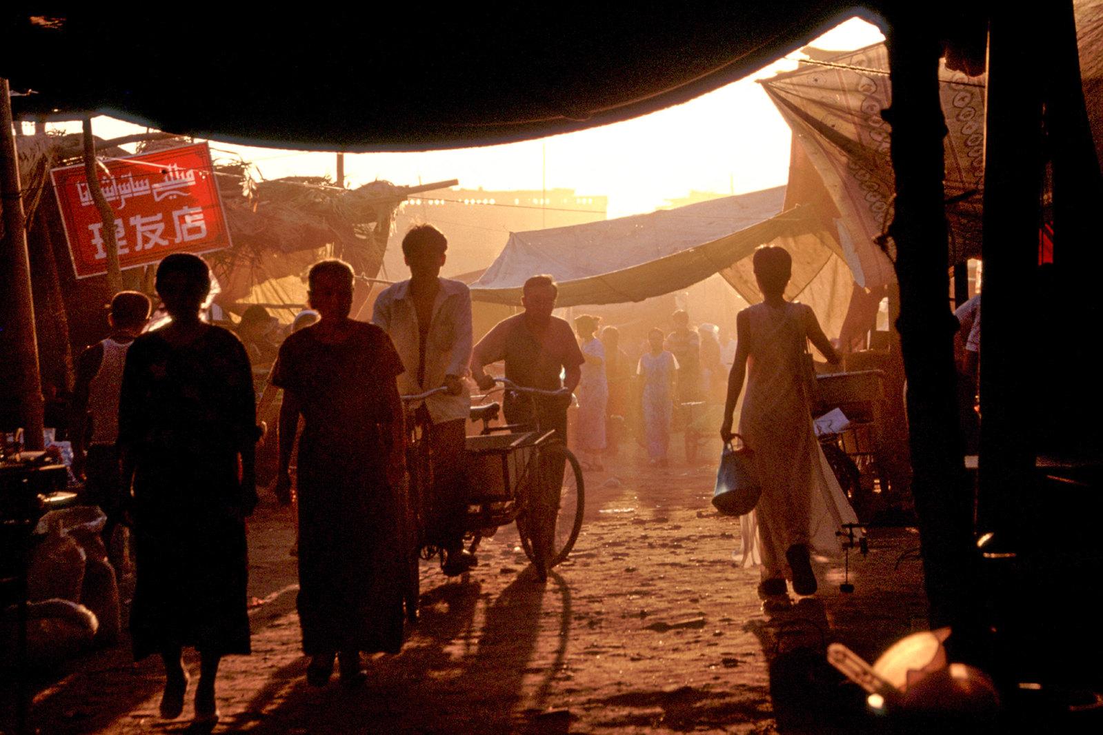 Turpan - Province du Xinjiang - Fin de journée sur le marché