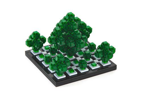 Chlorophyllic Hypercube Fractal Tree