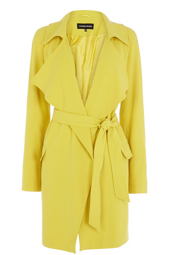 Warehouse Draped Yellow Trench