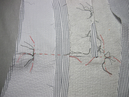 inside thread trace pocket