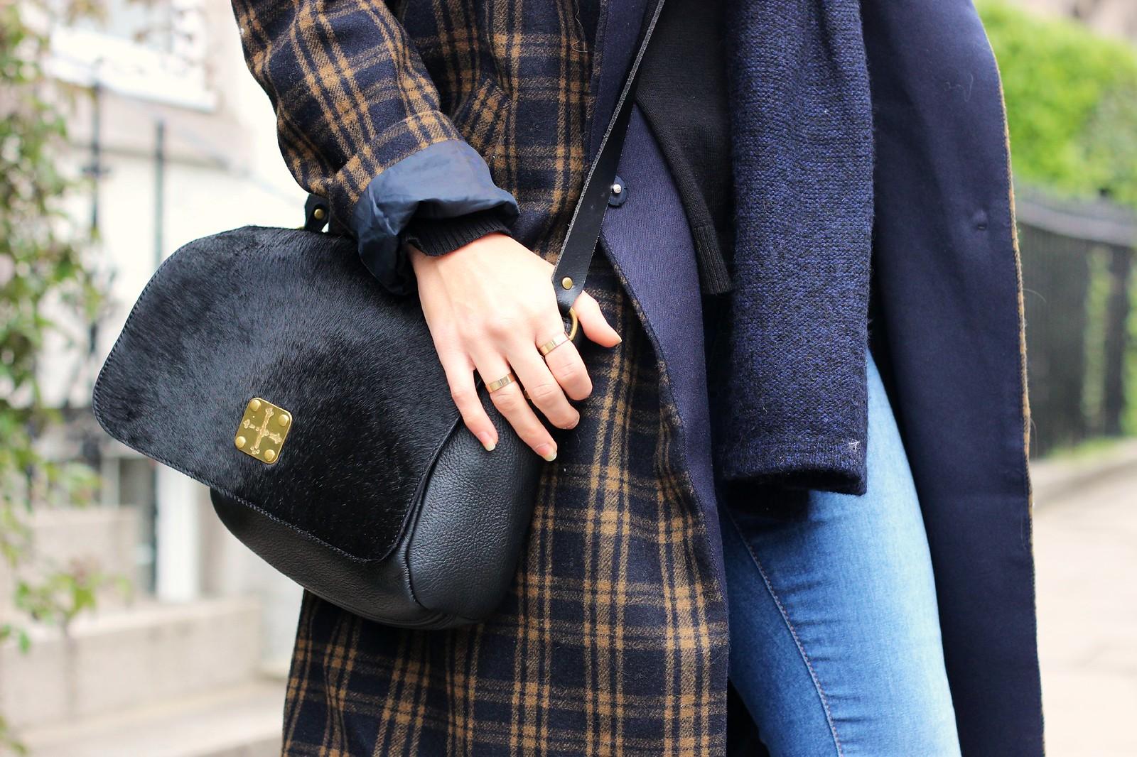 H&M long tartan coat 3