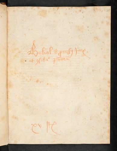 Manuscript title in Jacobus de Theramo: Consolatio peccatorum, seu Processus Belial