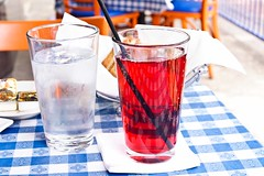 Cranberry Juice and Water
