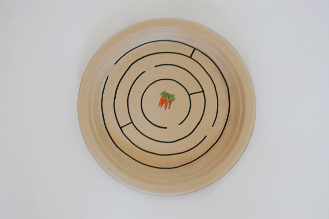 paper plate magnet maze