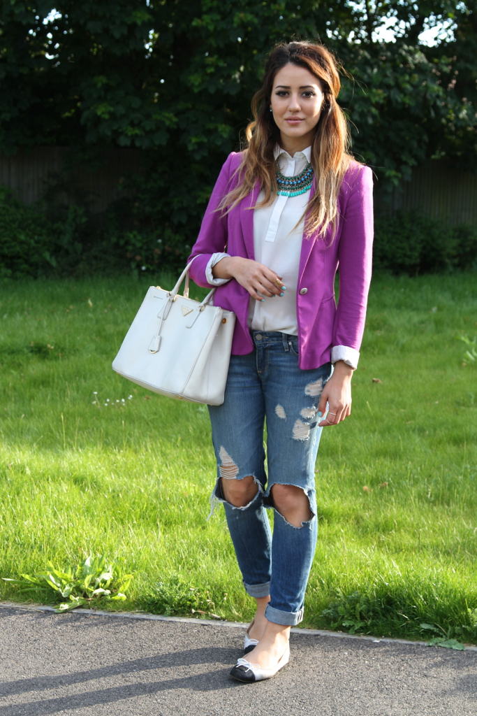 plain violet blazer outfit dress