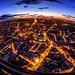 Evening Paris cityscape by filchist