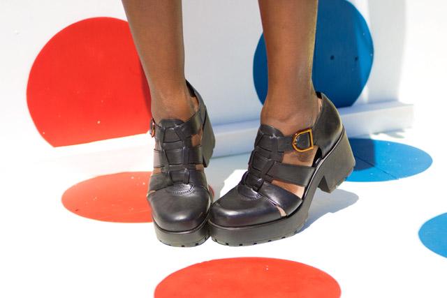 Vagabond Dioon Black Leather Heeled Shoes
