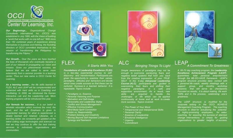 FLEX OCCI WORKSHOPS. For an inspired, excellent life!