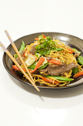Japanese Stir Fry Teriyaki Beef Noodles