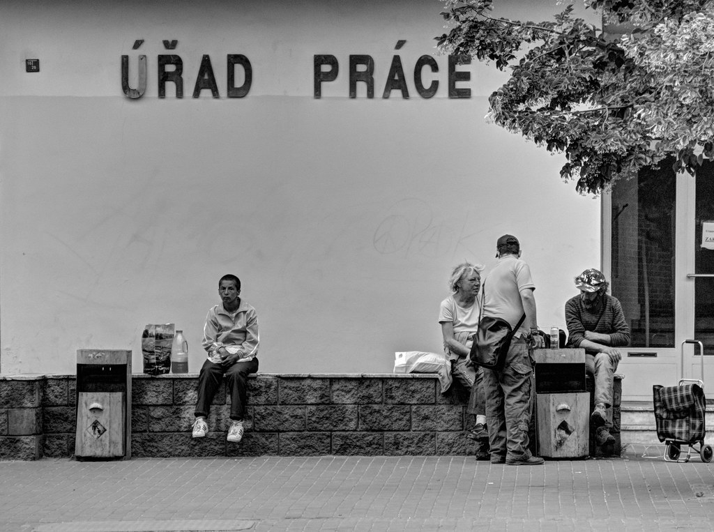 Unemployed People in front of the Labour Office 2