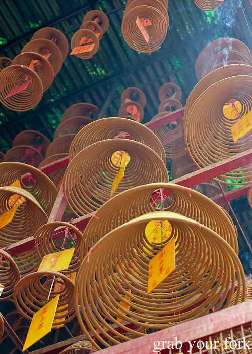 Giant incense coils in Sheung Wan or the Upper District, Hong Kong