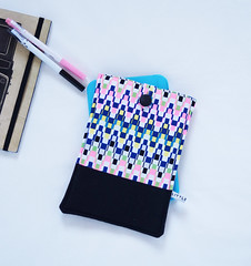 "Modern geometric 7"" Tablet Sleeve by little minx - available at http://felt.co.nz/shop/littleminx"