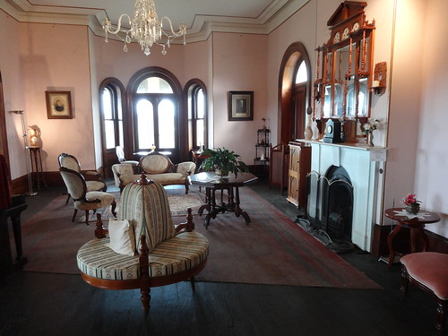 Glangallan drawing room after restoration.