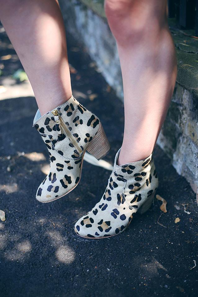 Boden Leopard Print Boots