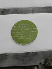 Photo of Alfred Thompson Denning green plaque