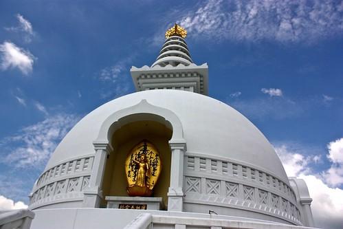 World Peace Pagoda up close