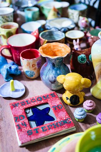 """The Mud Room"" ""ceramic studio"" people folk humans human ""human beings"" portrait Columbia ""Columbia Missouri"" Missouri 2014 USA US Country Notley ""Notley Hawkins"" 10thavenue http://www.notleyhawkins.com/ ""Missouri Photography"" ""Notley Hawkins Photography"" ""Boone Bounty"" BoCoMo ""Boone County Missouri"" ""art studio"" ""downtown Columbia MO"" July Summer ceramics painting"