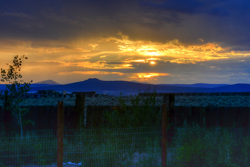 Taos Sunset Fence
