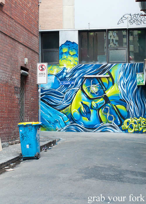 Graffiti mural in laneway off Little Bourke Street in Melbourne