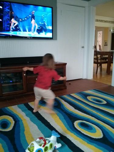 Davis dancing