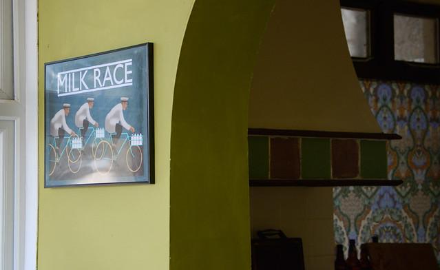 """""""Milk Race"""" Poster, by Mark Fairhurst"""