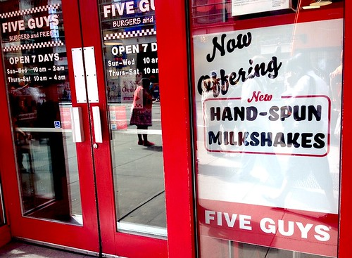 Five Guys has Shakes