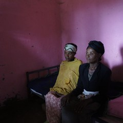 Expectant woman, Ayelech Fikadu, and her mother, Zarge Badunga. Ayelech is waiting to give birth in this lie and wait house because she experienced birth complications. #ethiopia #latergram #maternalhealth