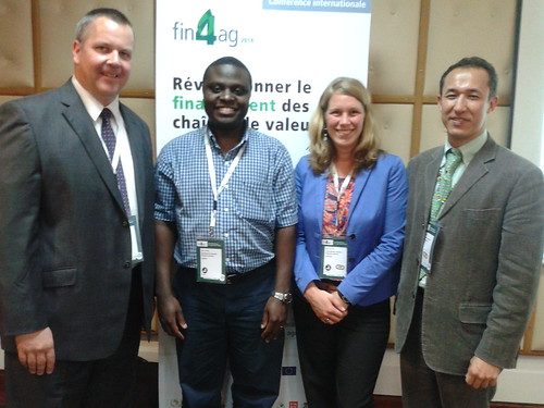 Speakers in the ILRI session on innovative finance for livestock and dairy value chains at Fin4Ag Conference