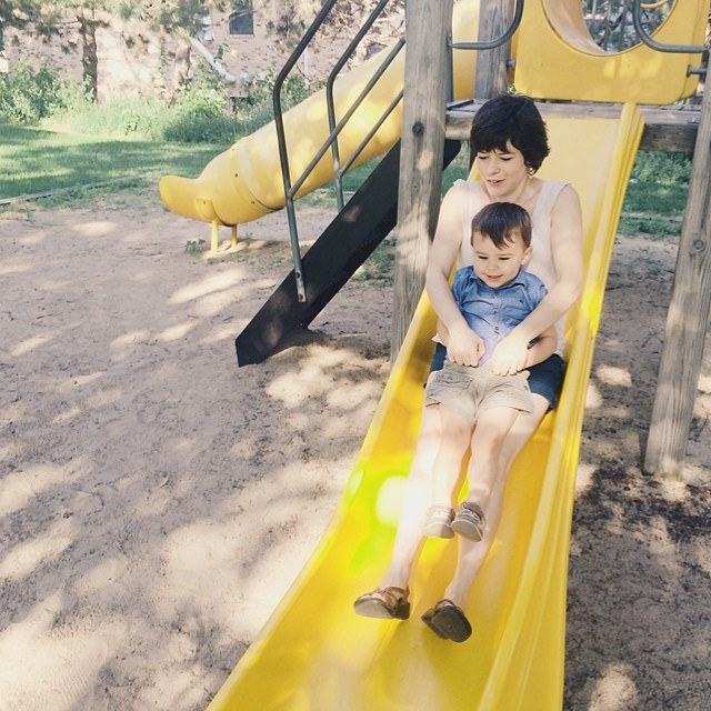We be slidin. #instaluther #toddler #children #motherhood