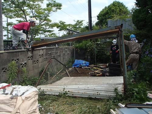 南相馬・小高でボランティア(援人 2014年 0711便)