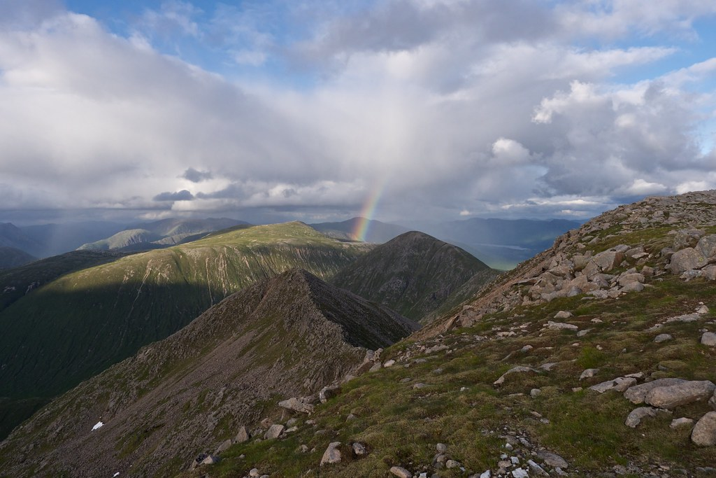 Rainbow over the Black Mount