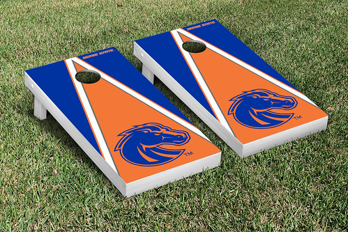 Boise State University Broncos Cornhole Game Set Triangle