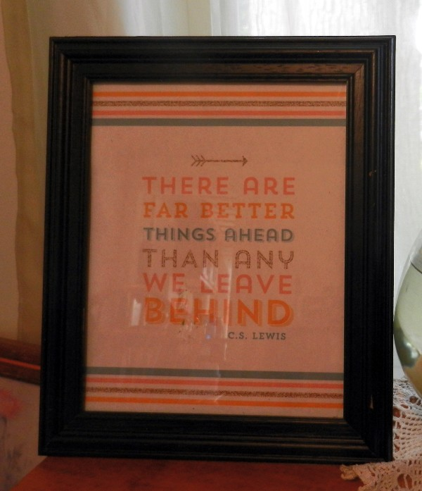 framed quote