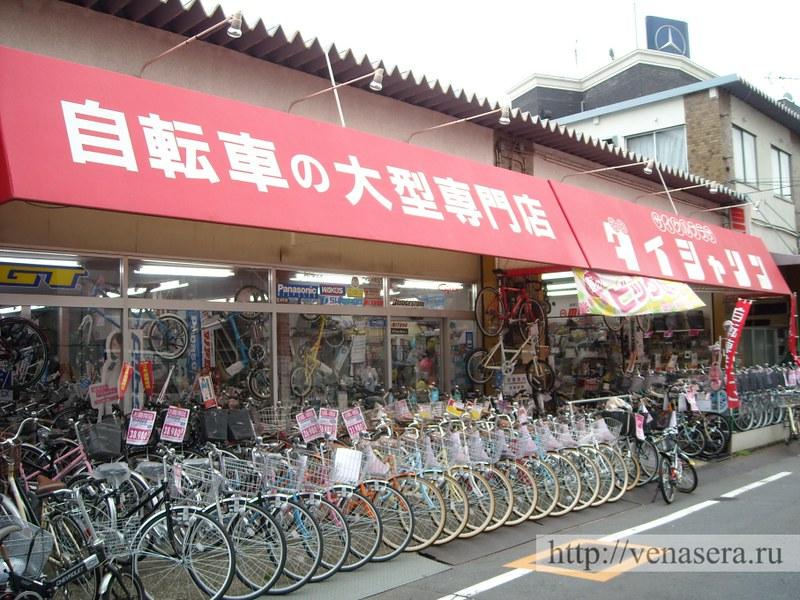 Магазин велосипедов в Японии