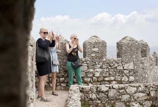 castelo dos mouros, sintra, portugal liten