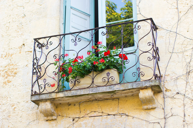 pretty balcony in the south of France