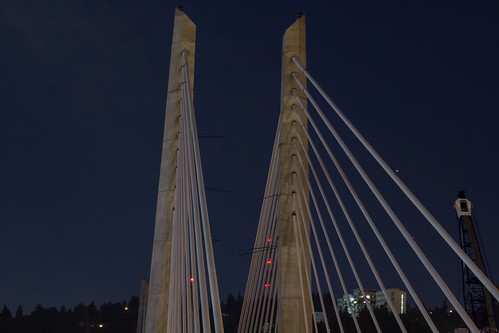 longexposure usa night oregon portland unitedstates bridges telephoto canoneos550d canont2i terryfrederic centraleastportland tilikumcrossingbridge lightroom55