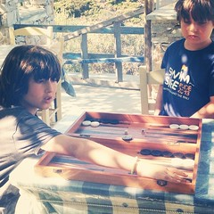 "Greek national sport of backgammon. ""No you're going THAT way..."" #amonthingreece"