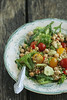 Toortatra-kikerhernesalat / Raw buckwheat and chickpea salad