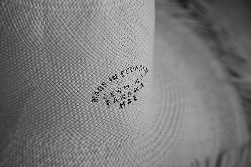 Made in Ecuador, the Panama hat
