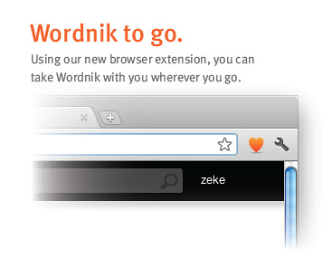 Wordnik Browser Extension
