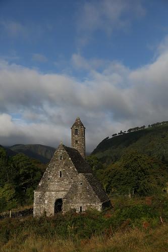 ireland heritage church landscape glendalough monastery wicklow monastic saintkevin