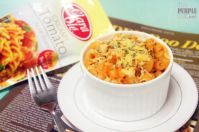 Cheesy Macaroni in Clara Ole's Creamy Tomato Pasta Sauce