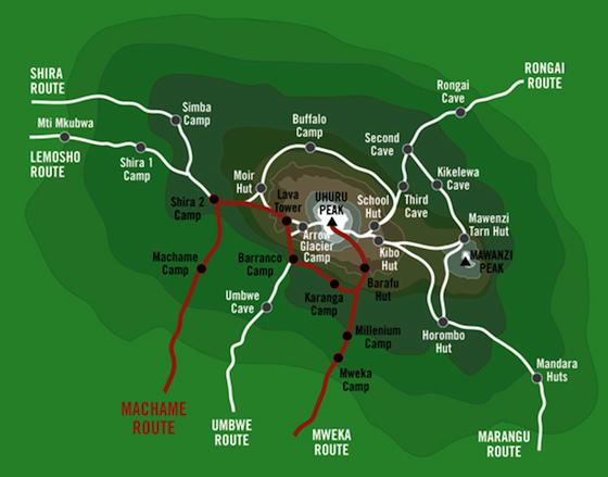 Rutes Kilimanjaro