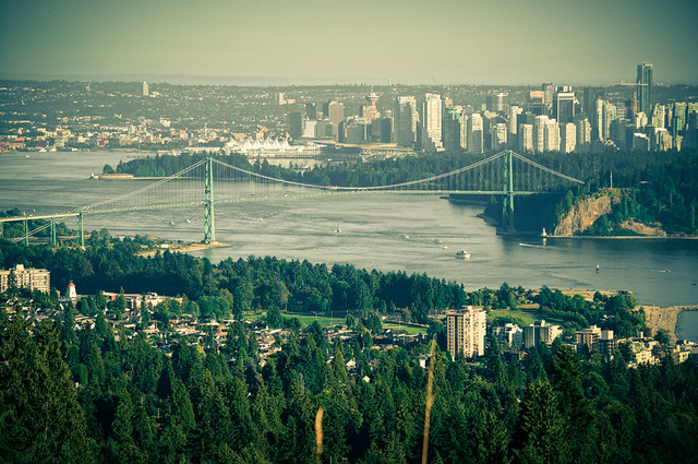 Summer Heat - Lions Gate Bridge in Vancouver BC Canada