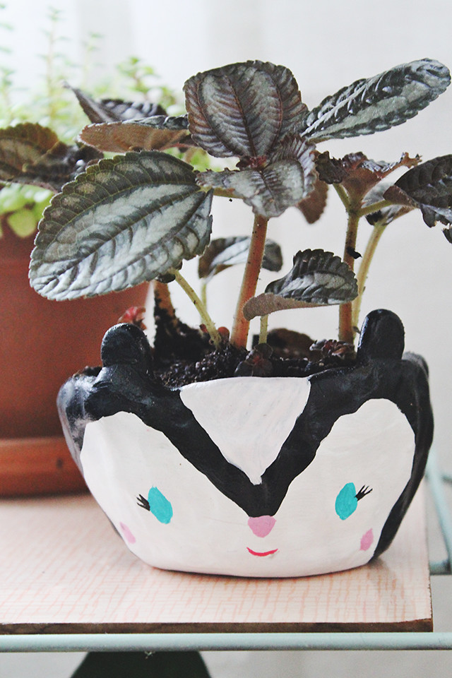 DIY Skunk Planter